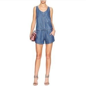 6be552205db Rails Chambray Blue Vintage-Wash Lily Romper Sz M